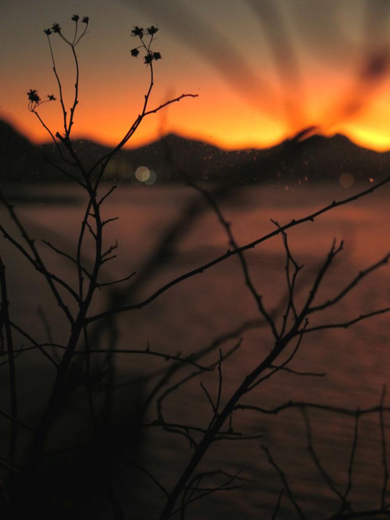Solnedgang på verandan